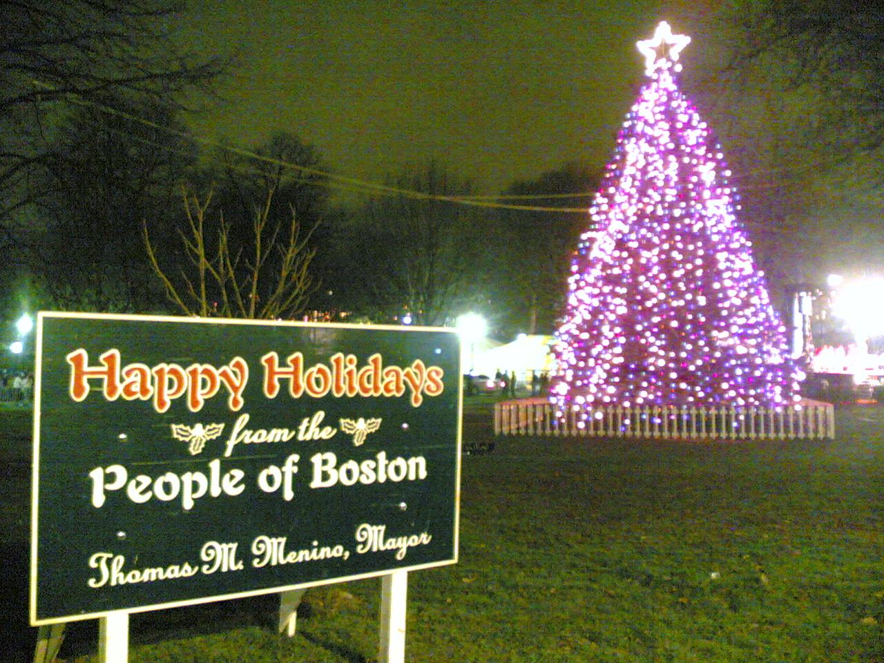 Boston's Tree Lighting Ceremonies Boston Babies - Boston Christmas Tree Lighting